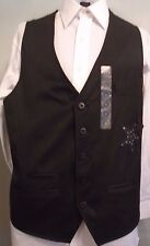 NWT Authentic Icon, Edgy, Well-Tailored, Black 5 Button Vest, Size Medium (V-53)