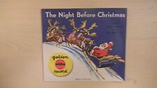 Golden Yellow Record THE NIGHT BEFORE CHRISTMAS 78rpm 50s