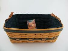 Longaberger Collectors Club Welcome Home Basket with Fabric Liner 1997 Combo Set