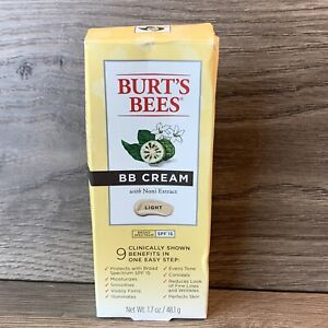 Burt's Bees BB Cream Light  SPF 15, w/ Noni Extract, 1.7oz. Exp 052021