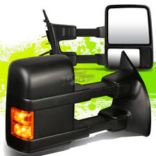 FOR 08-16 SUPERDUTY ADJUSTABLE MANUAL EXTENDABLE+LED SIGNAL TOWING SIDE MIRROR