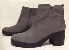PRIMARK women's ankle boots UK size 8 grey colour faux suede