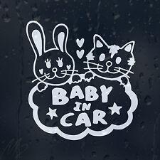 Bebé en coche Funny Gatitos calcomanía pegatina de vinilo