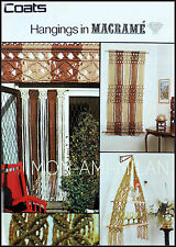 Vintage Macrame Pattern - Walk Thru' Curtain Wall Hanging Hanging Shelves  Craft
