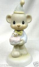 Precious Moments-Wishing You A Happy Bear Hug-Rare~520659~Bear w/Birthday Cake~