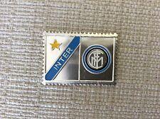 INTER F.C. AMBROSIANA CALCIO FRANCOBOLLO LAMIERINO SMALTATO ANNI '60 CON STEMMA