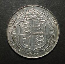 More details for edward vii 1902 half crown. superb