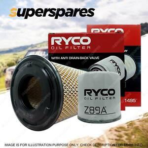 Ryco Oil Air Filter for Nissan Navara D22 4cyl 2.5L Turbo Diesel YD25 02/2008-On