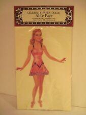 Alice Faye Celebrity Paper Dolls