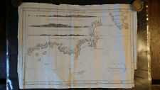 1784 ANTIQUE MAP CHART OF VAN DIEMEN'S LAND TASMANIA - HOGG BOWEN - CAPTAIN COOK