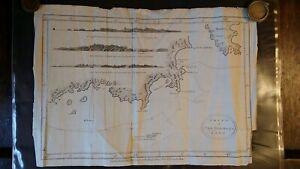 1784 ANTIQUE MAP CHART OF VAN DIEMEN'S LAND TASMANIA - HOGG BOWEN - CAPTAIN COOK