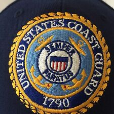 United States Coast Guard Baseball Cap Hat Navy Blue Patch Embroidery Adjustable