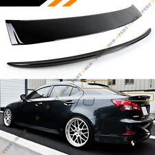 FOR 06-13 LEXUS IS 250/350/ ISF GLOSS BLK REAR TRUNK LID + VIP REAR ROOF SPOILER