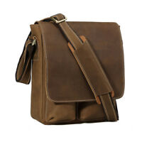 Men's Satchel Real Genuine Leather Cross Body Messenger Shoulder Bags Briefcase