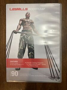 Les Mills Body Pump 90 Complete DVD, CD, Case and Notes