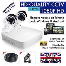 Cctv HD 1080P 4 Canales DVR Vigilancia DVR (1TB) -1 X 2 x cámaras día y noche