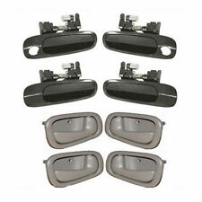 For Toyota Chevrolet 4 Inside Gray &  4 Outside Door Handle Non-Painted DS27