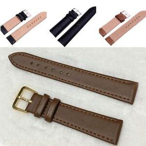 Universal Vintage PU Leather Wrist Watch Band Strap 10/12/14/16/18/20/22/24 mm