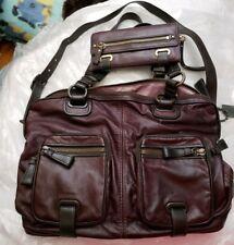 Coach Ltd Ed Cambridge Eggplant Leather Zip Top Shoulder Bag Satchel ONLY
