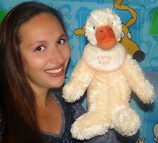 """Baby Boyds Gelb Ente Quackie Rassel 14 """" Weich Plüschtier Spielzeug Lovey"""