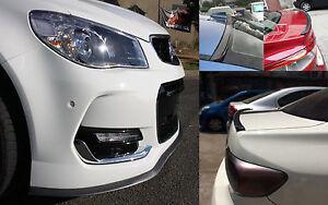CarbnFiberLook Front Bumper Lip & Rear Boot Spoiler Lip for Holden Cruze Captiva