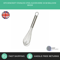 KitchenCraft Stainless Steel Eleven Wire 35cm Balloon Whisk - Baking Cooking