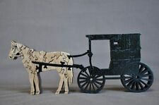 Amish Horse & Buggy Wood Tack Room Toy Puzzle Hand Made