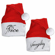 NEW SANTA HAT NAUGHTY OR NICE Party Supplies