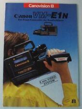 Canovision 8 Canon VM-E1N 8mm Camcorder Komfortklasse Katalog Prospekt B8441