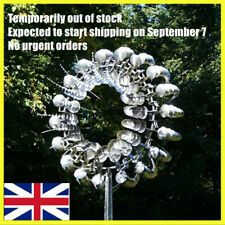 More details for unique and magical metal windmill - sculptures move with the wind lawn 32cm uk