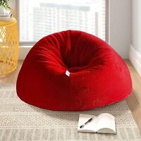Bean Bag Cover Red Fur Attractive Sofa Without Bean for a luxuries Home uses
