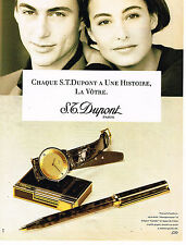 PUBLICITE ADVERTISING 074  1990  DUPONT    stylo briquet montre