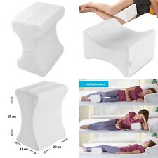 2 x Memory Foam Contour Leg Pillow Bed Orthopaedic Firm Back Hips Knee Support