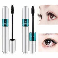 Long Lasting Thick 2-in-1 4D Mascara Silk Fiber Lash Mascara Black Waterproof
