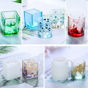 DIY Epoxy Resin Crafts Square Cylindrical Reusable Silicone Pen Holder Mold