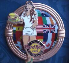 HARD ROCK CAFE World Burger Tour / US San Francisco Prototype Copper Pin / P.16*