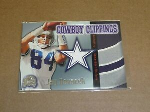 2000 Fleer Greats of the Game JAY NOVACEK COWBOY CLIPPINGS JERSEY COWBOYS R3446