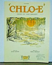 New ListingVintage Sheet Music - Chlo-E (Song of the Swamp) by Gus Kahn & Neil Moret ©1927