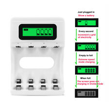 LCD Screen Battery Charger For AA/AAA NiCd NiMhB Quick Charging Four Slots