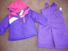 Snowsuits Purple 3 in 1 Jackets Girls Purple Snow Bibs Coats 2 pc Set  12 mos