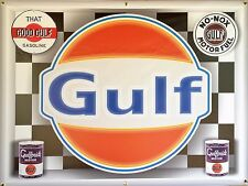 Gulf Gas Service Station Neon Effect Digital Printed Banner Sign Mural Art 4 X 3