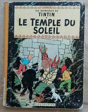 Tintin Le Temple du Soleil HERGE B34 1963 éd Casterman