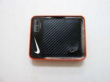 Nike Mens Billfold Wallet Carbon Fiber Textured Black Leather S16884001 69770 Bk