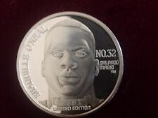 1992 LIMITED SHAQUILLE O'NEAL NBA #1 DRAFT PICK SILVER COIN 1 TROY OZ MEDAL