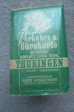 THÜRINGEN - Erfurt Gera Suhl - Verkehrs- und Bürokarte Bl. 4 - 1:300 0000 (1953)