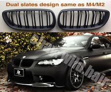 BMW e92/e93/M3 Coupe/Convertible listones de doble, Rejilla De Riñón Estilo M4 Negro Mate