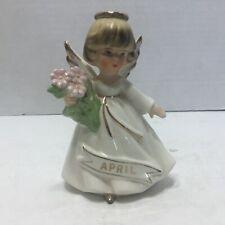 Vintage Angel Birthday Girl Figurine April
