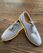 Born Grey Suede Oxford Style Comfort Laced Shoes. Yellow Soles. Size 9.5 M