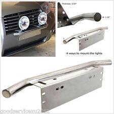 Silver Autos Bull Bar Front Bumper License Plate Mount Headlight Bracket Holder
