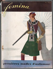 FEMINA Magazine ~ September 1931 ~ Wecla ~ Vintage French Fashion Art Deco